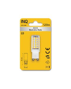 Lampa LED G9 4,6W 520lm 4000K owal INQ LTG040NW
