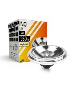 Lampa LED AR111 GU10 12W 830 230V 30^ 960lm srebrny INQ AR140WW